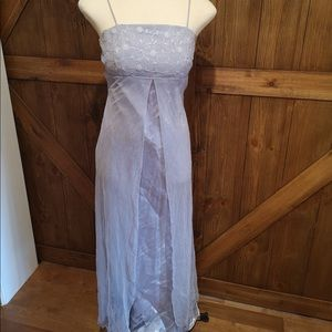 Vintage purple chiffon and spaghetti straps dress